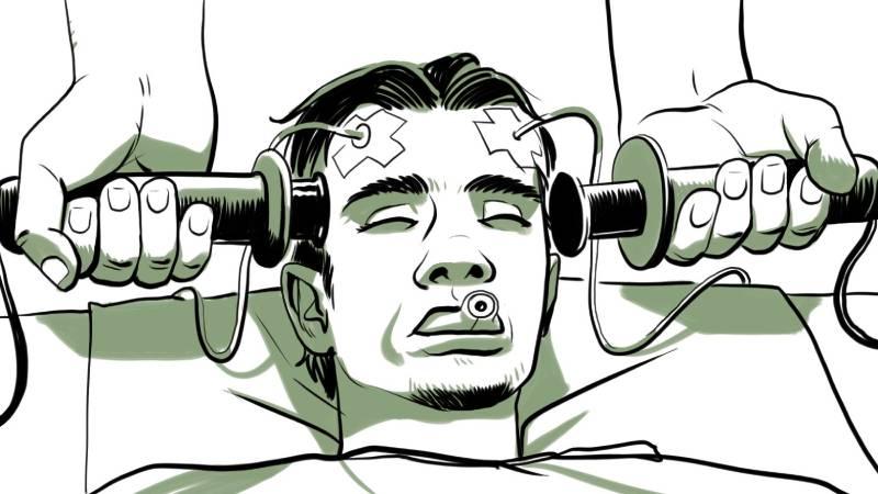 در الکتروشوک مغزی چه اتفاقی میافتد؟